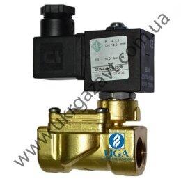 Клапан электромагнитный ODE 21WA4KOB130 непрямого действия НЗ 1/2
