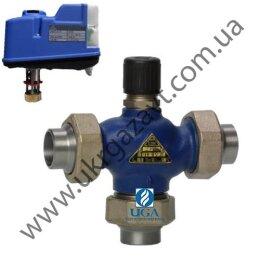 Клапан регулирующий LDM RV111 R3/T (Kvs=4) с электроприводом чугунный Ду 15 (1/2
