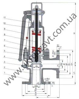 Клапан предохранительный СППКР-16П и СППКР-16В