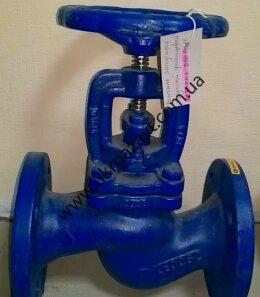 Клапан вентиль запорный чугунный фланцевый 15кч16п1
