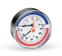 Термоманометр аксиальный F R818 (TMAP) WATTS