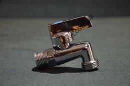 Кран угловой хромированный с фильтром NEW