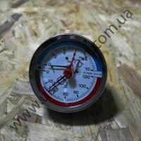 Термоманометры (манометры с дополнительной температурной шкалой) осевые  МТ–80–ТМ-О