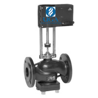 Клапан регулирующий LDM RV231 с электроприводом чугунный Ду 100