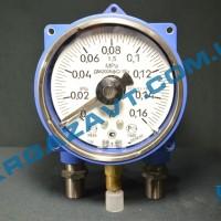Электроконтактный взрывозащищенный манометр ДМ2005ф Cr 1Ex 0 - 0,16 МПа кл. т. 1,5