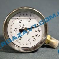 Виброустойчивый вакуумметр ДВ8008-Вуф исп l -1 - 0 кгс/см2 кл.т. 1,5