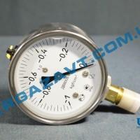 Виброустойчивый вакуумметр ДВ8008-Вуф -1 - 0 кгс/см2 кл.т. 1,0