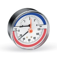 Термоманометр аксиальный F+R818 (TMAP) WATTS