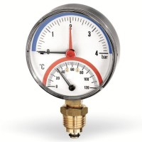 Термоманометр радиальный  WATTS F+R828 (TMRP)